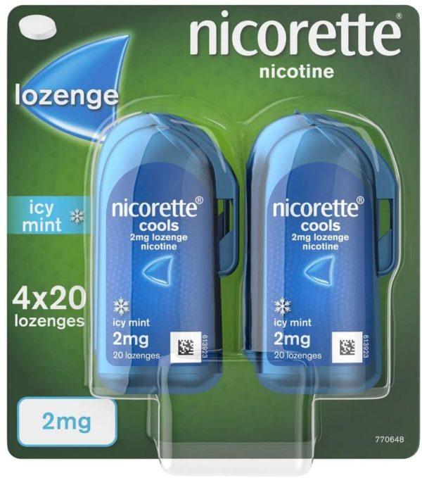 Nicorette Cools 2mg Lozenges 80