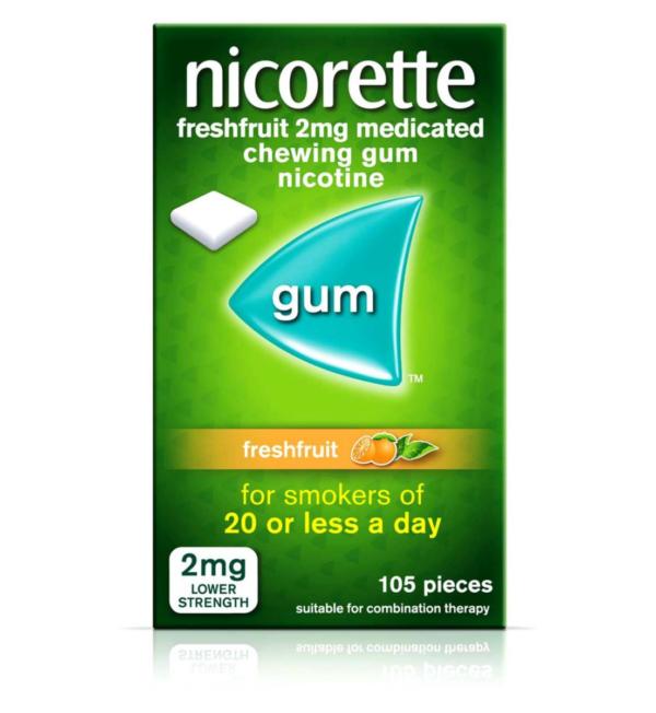 Nicorette 2mg Freshfruit Med Chew Gum