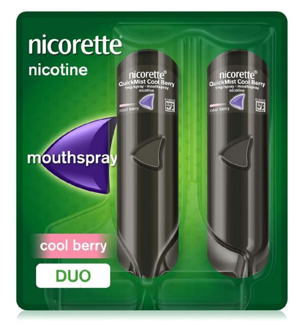 Nicorette Quickmist Cool Berry 1mg x 2